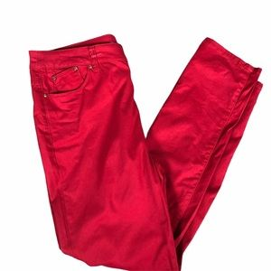 CHICO'S PANTS PLATINUM JEGGING'S  RED